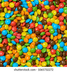 Colorful chocolate candy for backgrounds