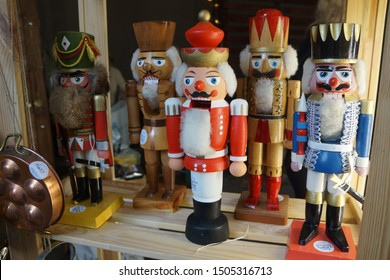 colorful Christmas decor - toy Nutcracker. the inscription on the figures: the Nutcracker from Germany