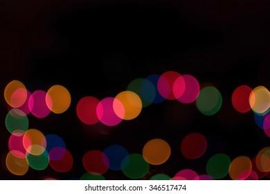 Colorful christmas light bokeh for background