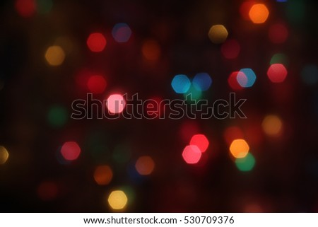 Colorful Christmas Lights Background - photograph of blurred and colorful Christmas  lights, perfect for a - Colorful Christmas Lights Background Photograph Blurred Stock Photo