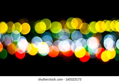 Colorful circle bokeh from party light
