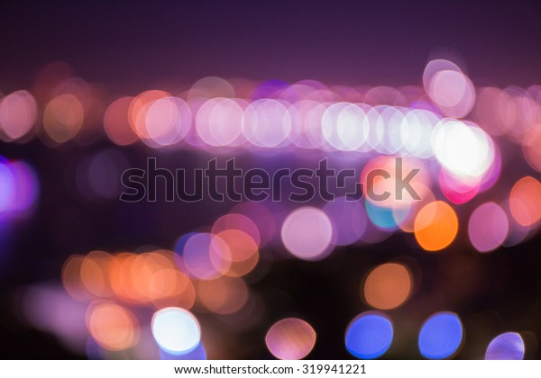 Colorful circle bokeh from party lights