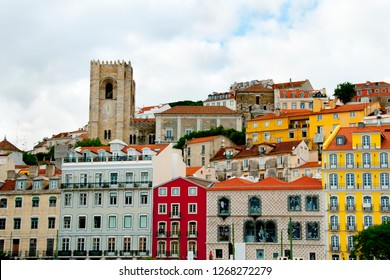 Colorful City Buildings - Lisbon - Portugal