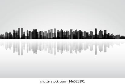 Colorful City New York panorama