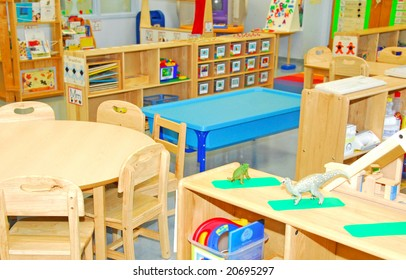 Colorful classroom for early education