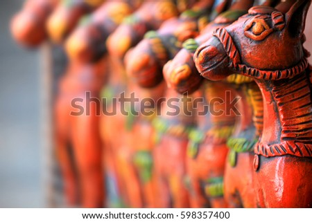 Colorful Clay Made Handicrafts India Stock Photo Edit Now