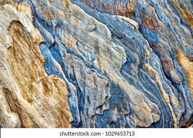 Colorful close up of rock face