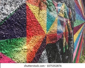 Colorful Closeup Graffite Street Art Kobra