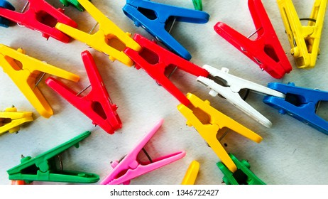 Colorful clothes peg