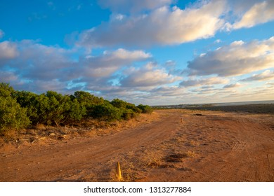 Colorful clouds and coast landscape during sunset in Geraldton Western Australia