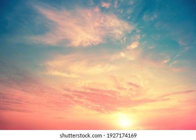 Colorful cloudy sky at sunset. Gradient color. Sky texture, abstract nature background - Shutterstock ID 1927174169