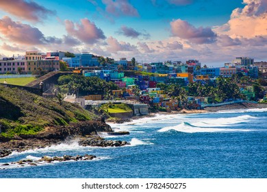 The Colorful Coast in Old San Juan known as La Perla, or The Pearl