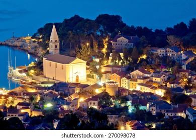 Colorful coastal town of Veli Losinj by Adriatic sea of Croatia