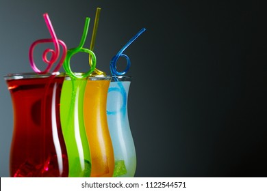 Colorful coctails, summer