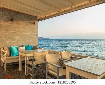 colorful coffee place  Lounge by the sea