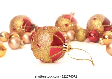 Colorful collection of Christmas Balls useful as a background pattern