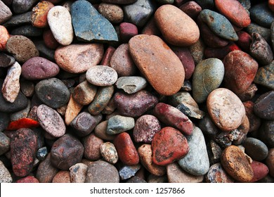Colorful collection of rocks