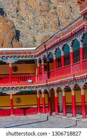 Colorful compound of Famous Hemis Monastery, at Leh, ladakh, India