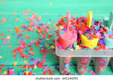 colorful concept or background for children's party, summer or holiday