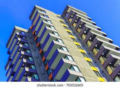Colorful Concrete Apartment Building