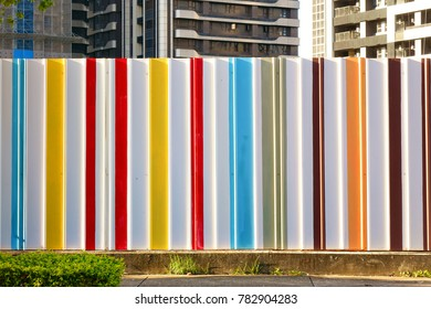 Colorful construction site temporary hoarding fence panel