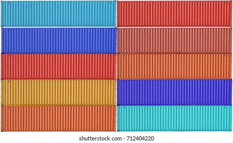 colorful of container box pattern exterior use as multipurpose background