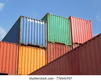 Colorful container stacked
