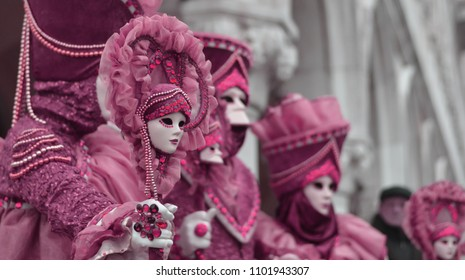 colorful costumes of purple