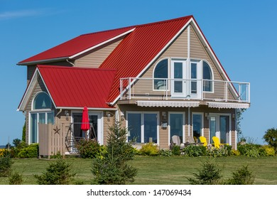 Colorful cottage to enjoy summer vacation.
