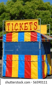 Colorful County Fair Ticket Booth