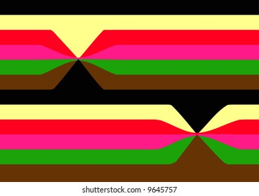 colorful crackers in stripes