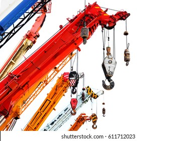 colorful crane truck for logistic background