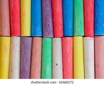 Colorful crayon