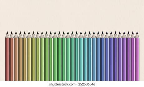 Colorful Crayon - in line composition