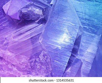 colorful cristal stone. Ametist stone textire or background