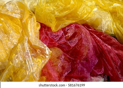 Colorful crumpled shiny fabric