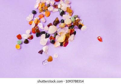 Colorful crystals - Zen environment transmit positive energies - Holistic