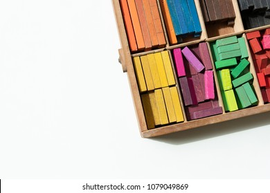 Colorful cuisenaire rods. Mathematics learning aids for students. Mathematical concepts.