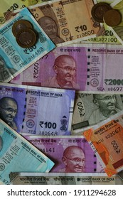 Colorful currency notes issued by the Reserve Bank of India
