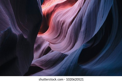 Colorful Curved Walls of Sandstone at Antelope Canyon