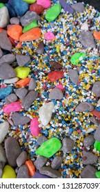 colorful decorative white stones