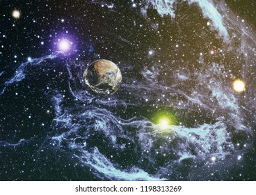 Colorful deep space. Universe concept background. Futuristic abstract space background. Elements of this image furnished by NASA