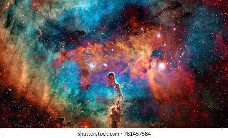Colorful deep space. Universe concept background. Elements of this image furnished by NASA - Shutterstock ID 781457584