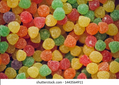 Colorful delicious candy is beautiful and shiny