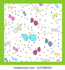 colorful and design sun glasses