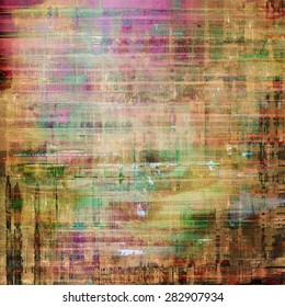 Colorful designed grunge background. With different color patterns: yellow (beige); brown; green; purple (violet)