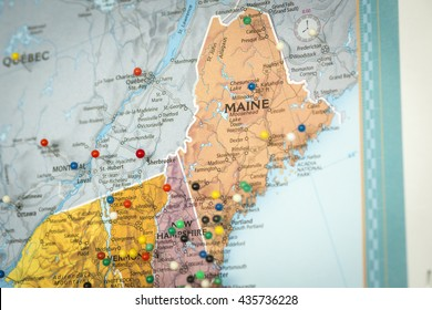 Map of New England States Stock Photos, Images & Photography ...