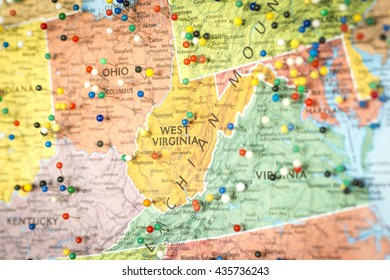 Detailed Map Of Virginia Stock Photos Images Photography