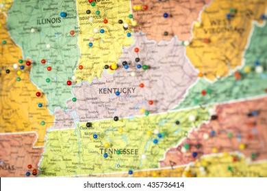 Kentucky Road Map Stock Photos, Images & Photography ...