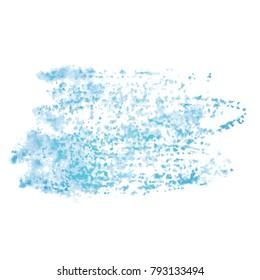 Colorful detailed backdrop with watercolor texture. Abstract stain isolated on white background. Design template for poster, card, banner, flyers, invitation, brochure, sale.